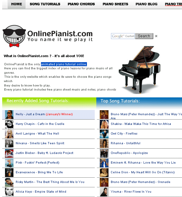 Onlinepianist Provides Free Animated Piano Tutorials Online