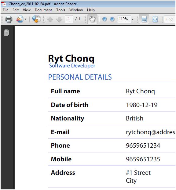 Create Cv Online Pdf – Bing images