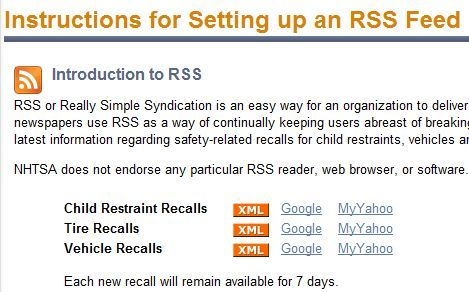 product recall rss