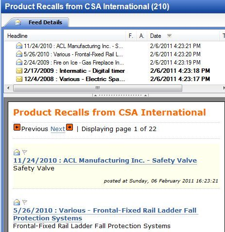 product recall alerts