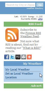 free weather rss feeds