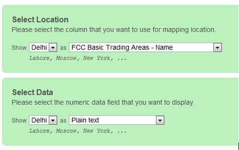 create a map from data