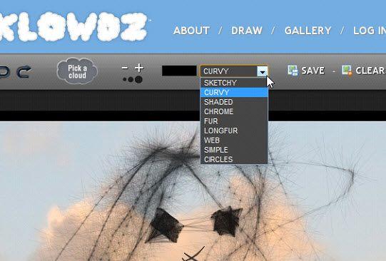 drawings of clouds