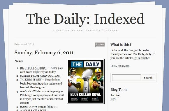 "Read ""The Daily"" For Free Online Without An iPad [News] thedailyindexed"
