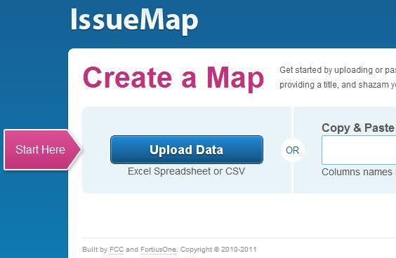 create a map from excel