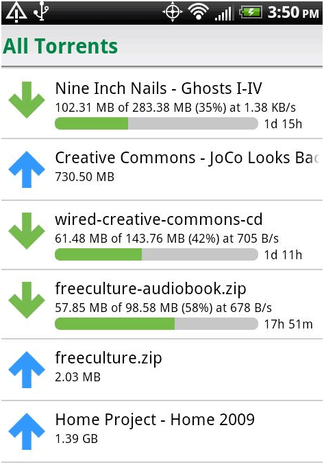 control utorrent downloads