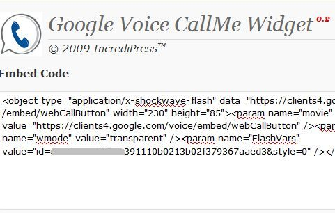 wordpress voicemail widget
