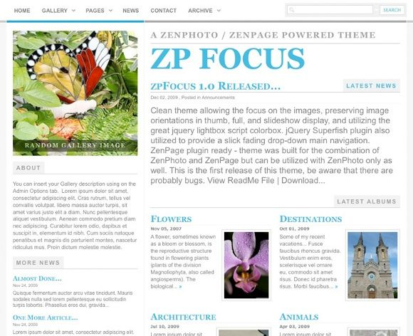 Share More Than Just Photos With Zenphoto & The Zenpage CMS Plugin zpfocus