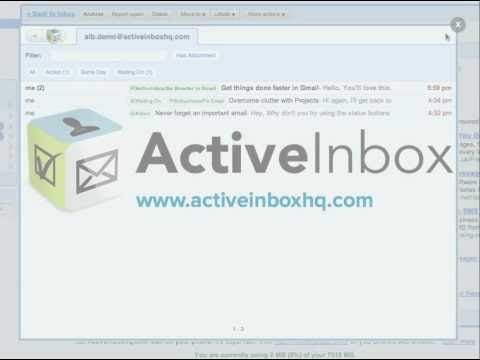 Organize Your Gmail Inbox Better With ActiveInbox