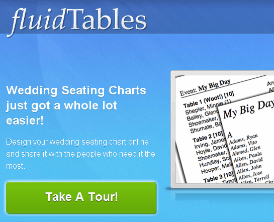 fluidtables free seating chart creator for your wedding party