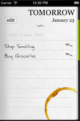 Do It (Tomorrow): To-Do App for Things Today & Tomorrow Only [iOS] 101 thumb3