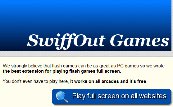 play flash games in full screen