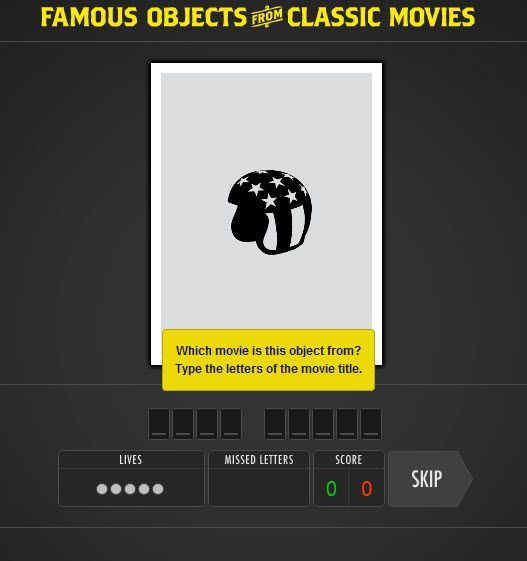 123   FamousObjectsFromClassicMovies: Guess Famous Objects From Movies