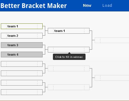 generate tournament brackets