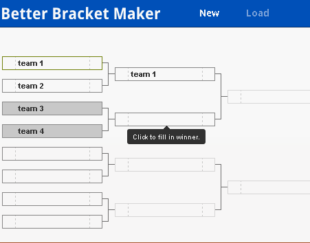 generate tournament brackets