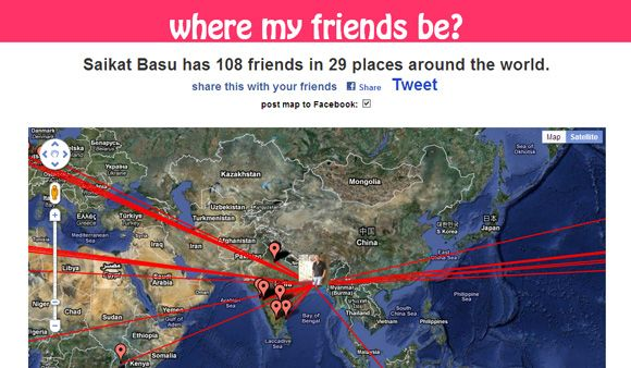 5 Ways To See Your Facebook Friends On A World Map