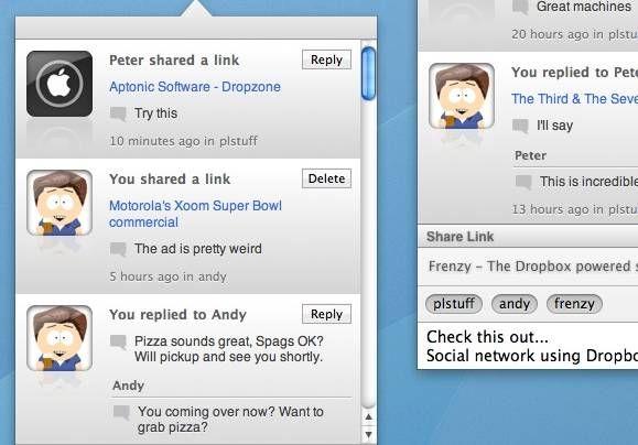 dropbox social network