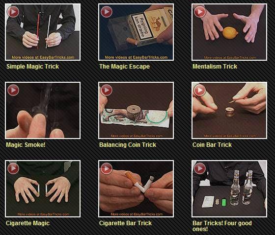 learn cool bar tricks