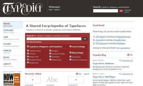 typography web application