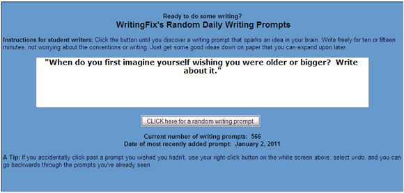 10 More Websites That Help Cure Writer's Block With Writing Prompts Writing Prompt02
