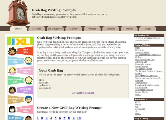 10 More Websites That Help Cure Writer's Block With Writing Prompts Writing Prompt04
