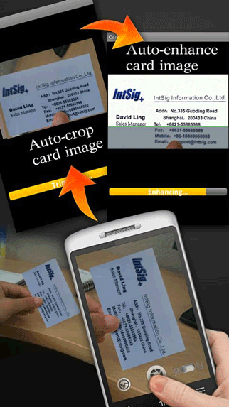 android business card reader app
