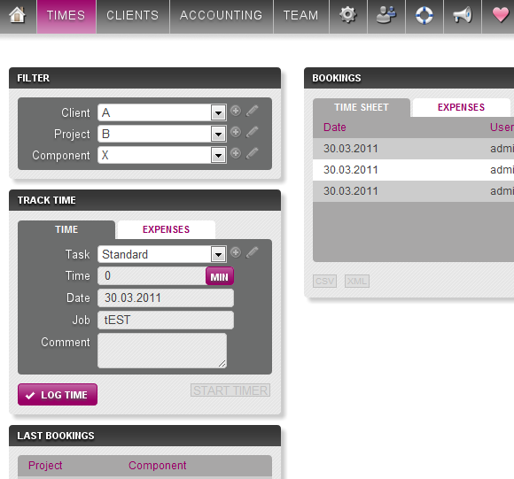 time tracking invoice management software
