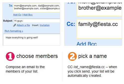 fiestacc   FiestaCC: Effortless Mailing Lists