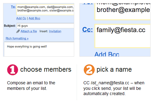 fiestacc   FiestaCC: Effortless Mailing Lists