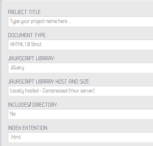 create project framework