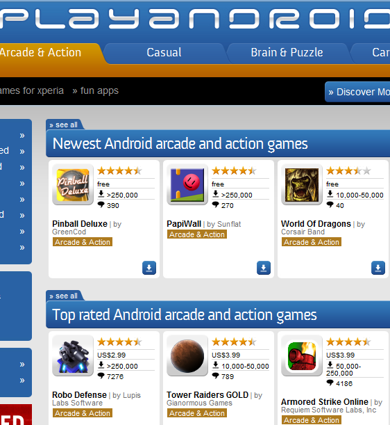 thousands of android apps