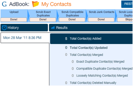 remove duplicate contacts from gmail
