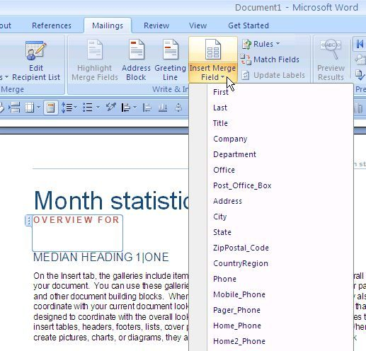 How To Use Microsoft Word Mailings To Automate Emails word6