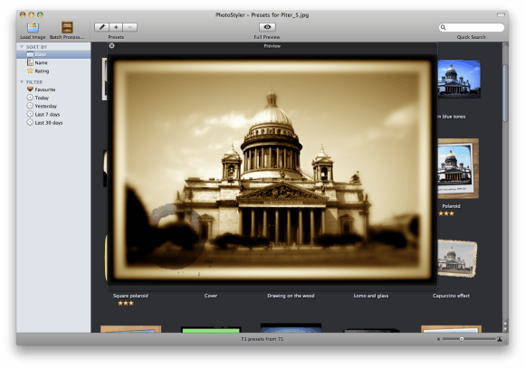 10115   Photostyler: Add Preset Filters & Effects To Photos Easily (OSX) [20 Free Licenses]