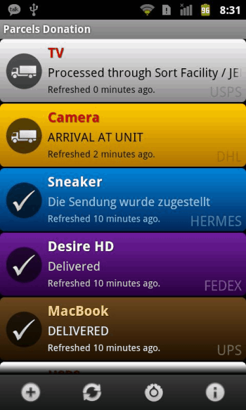 shipping tracker android