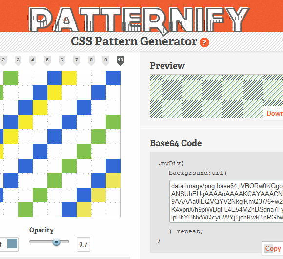 css pattern generator
