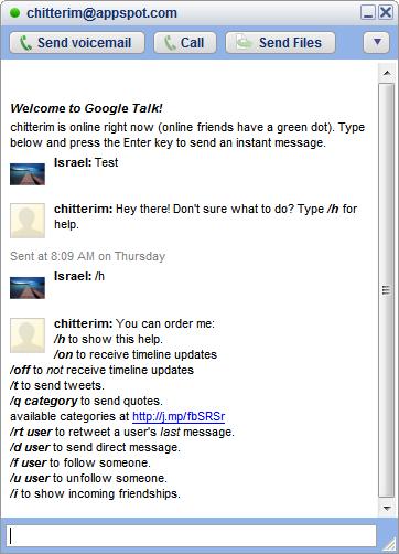 gtalk twitter bot