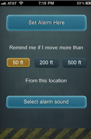 location based alarm app