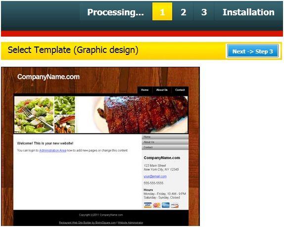 website for your restaurant