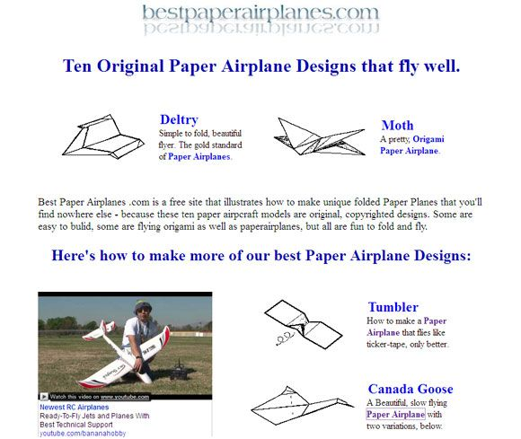Learn How To Make Paper Airplanes With These Five Paper Craft Websites