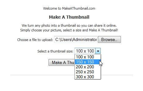 create thumbnails of photos