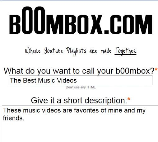 collaborative youtube playlist