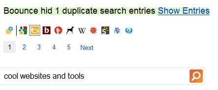 toggle search engine