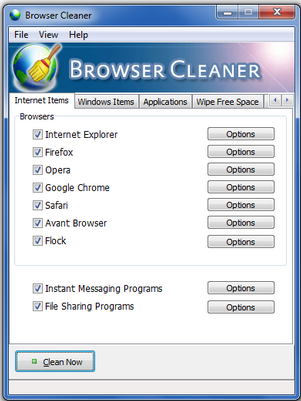 browser history clearing
