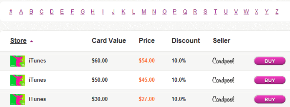 buy discounted gift cards online