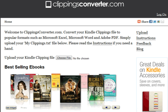 kindle clippings online