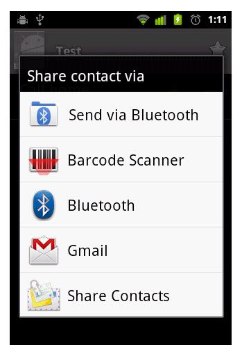 share contacts,