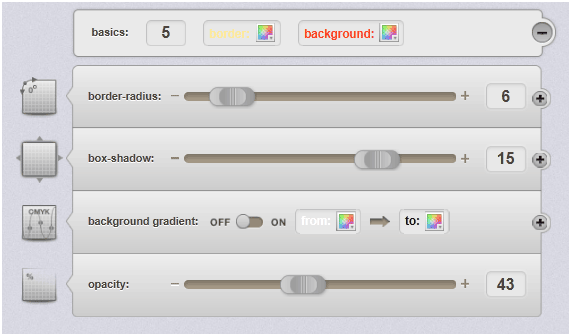 generate css3 box shadow