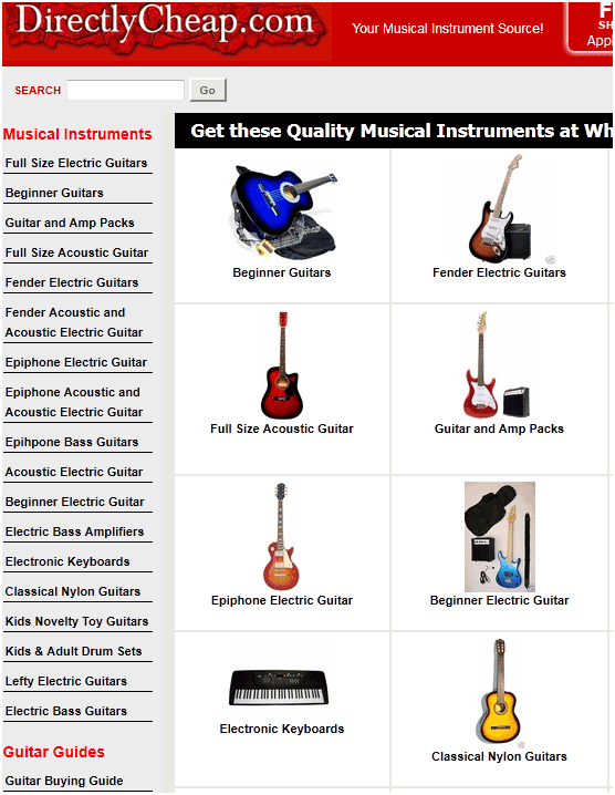 get musical instruments cheap