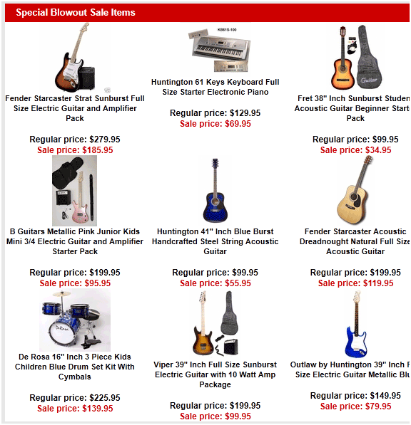 musical instruments for cheap online